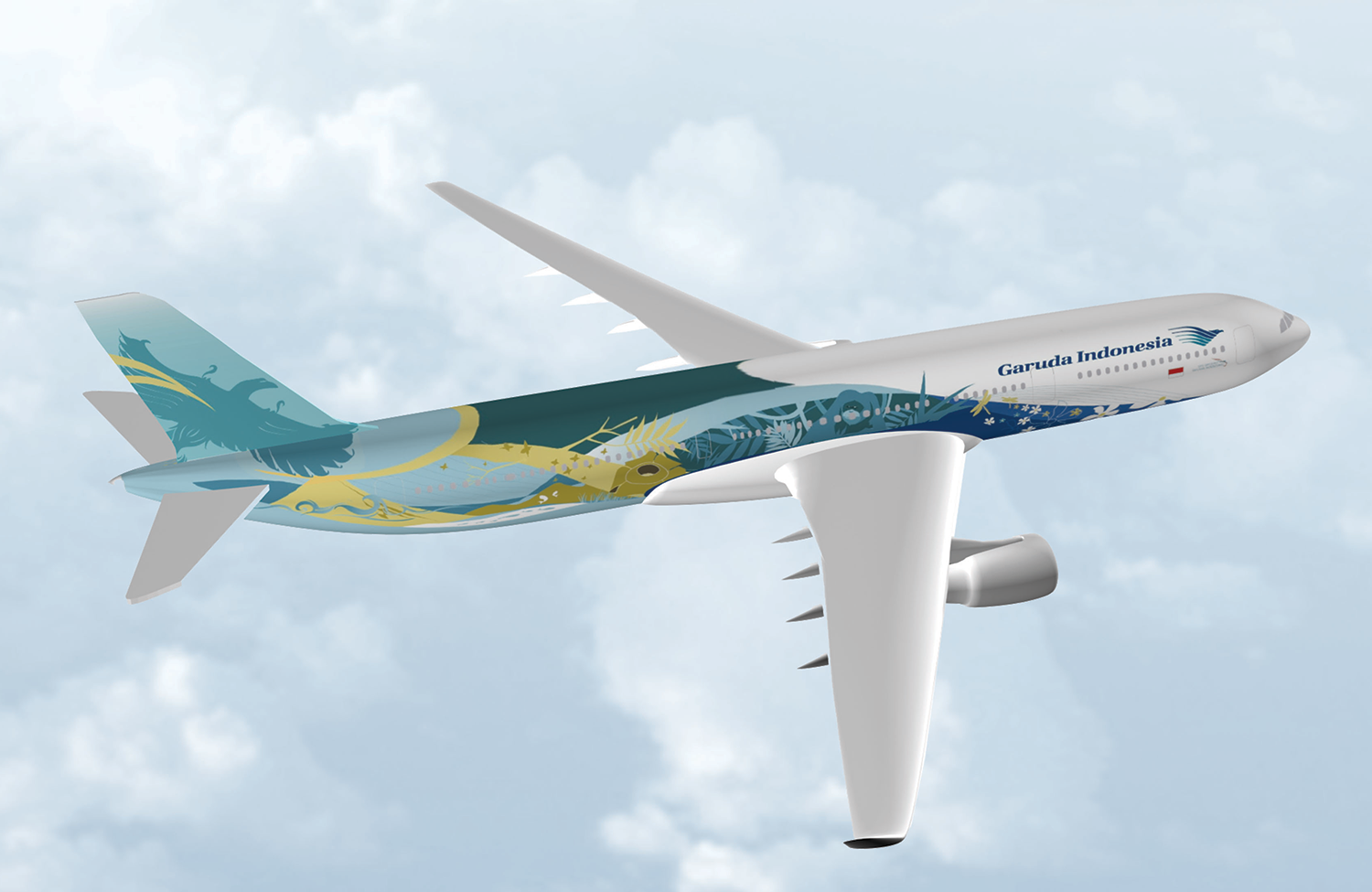 Nature livery in 3D