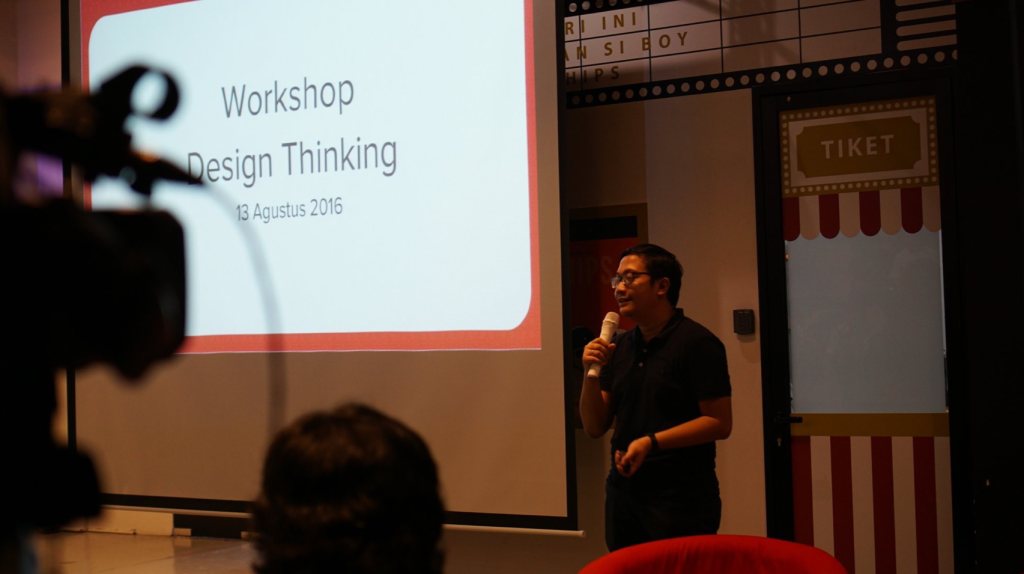Presenting at a Design Thinking Workshop