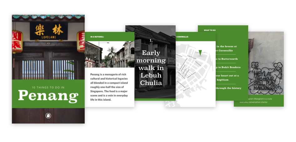 Travel guide e-book design